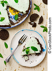 homemade chocolate mint ice cream cake - homemade chocolate...