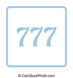 777 icon Blue frame design Vector illustration