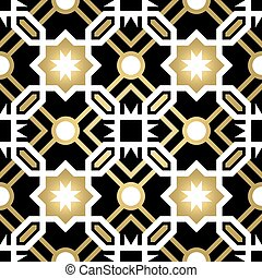 Gold ceramic tile abstract seamless pattern - Gold classic...