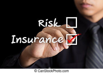 Businessman drawing Insurance concept