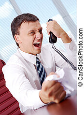 Great anger - Image of annoyed boss losing his temper and...
