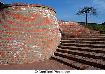 Petrovaradin fortress, Novi Sad, Serbia - steps on...