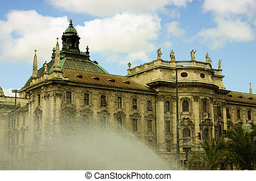 The Palace of Justice (Justizpalast) in Munich (Bavaria,...