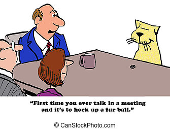 "Have you all met our humor consultant - ""Binky will be..."