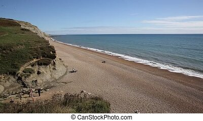 Eype beach Dorset England uk - Dorset Jurassic coast beach...