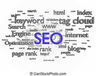 SEO - Search engine optimization. Conceptual image with...
