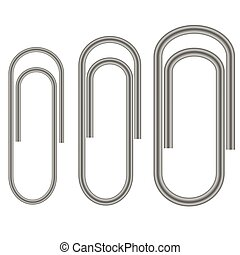 Set of Paper Clips Isolated