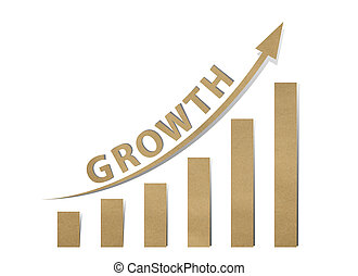 Growth with paper chart