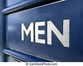Men rest room sign