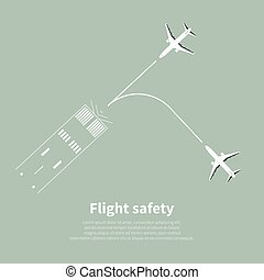 Aviation safety infographic. Scene 2. Vector illustration.