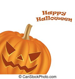 Halloween pumpkin vector - Halloween pumpkin on a white...