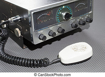 Citizens Band Radio - Original microphone and old citizens...