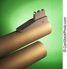 Shotgun fiber optic sight - Fiber optic front sight on a...