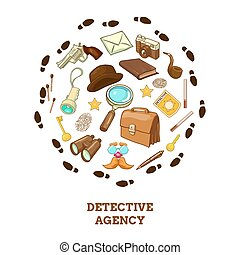 Detective Agency Round Composition - Detective agency round...