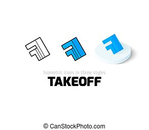 Takeoff icon in different style - Takeoff icon, vector...