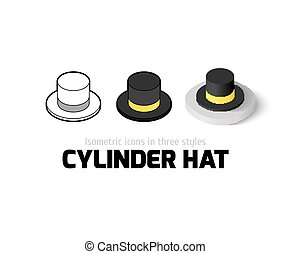 Cylinder hat icon in different style - Cylinder hat icon,...