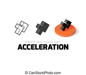 Acceleration icon in different style - Acceleration icon,...