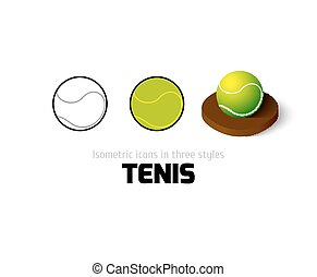 Tennis icon in different style - Tennis icon, vector symbol...