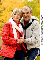 At leisure - Photo of aged couple enjoying themselves in...