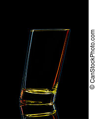 Silhouette of colorful glass for shot with clipping path on...