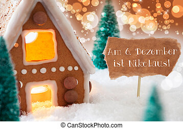 Gingerbread House, Bronze Background, Nikolaus Means...