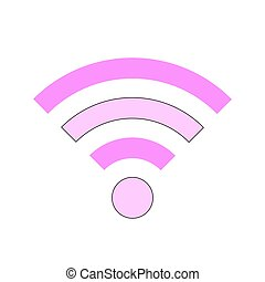 Wi-Fi symbol icon on white. - Wi-Fi symbol icon on white...