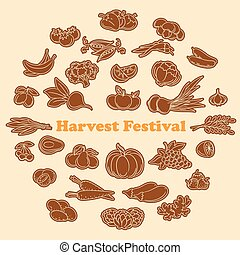 Harvest festival stickers set - Harvest festival stickers...