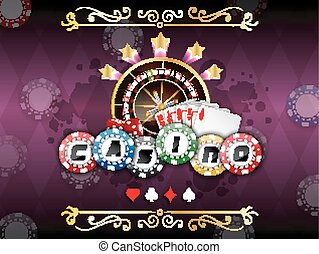 Poker background - Illustration of Background purple with...