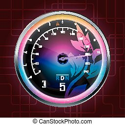 Speedometer abstract background