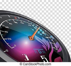 Speedometer and arrow on 160