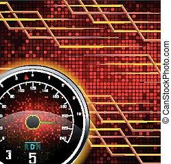 Speedometer background - Illustration of Speedometer...