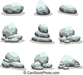 Stone set collection of vector art