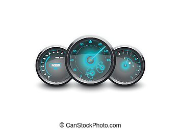Speedometer isolated white - Illustration of Speedometer,...