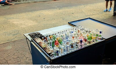 Mobile Counter with Hookah Glass Facilities in Street -...