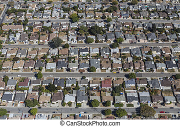 Aerial View of East San Francisco Bay Homes