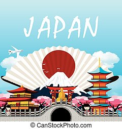 Japan travel in Japanese upon