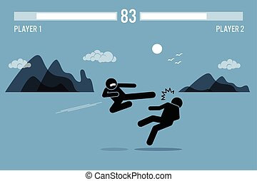 Street Stick Fighter Game - Stick figure fighter characters...