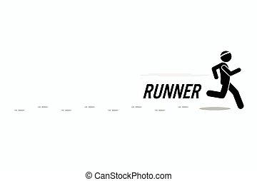 Running man - Runner runs and training in a outdoor running...