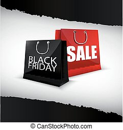 Black Friday shopping bag - Illustration of Black Friday...