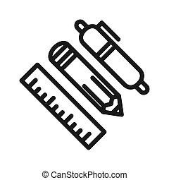 essential tools vector illustration design