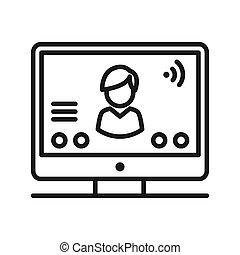 online conference vector illustration design