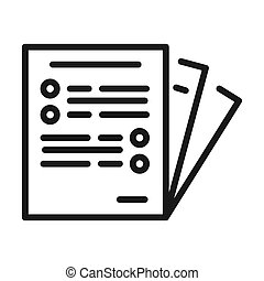 business paper vector illustration