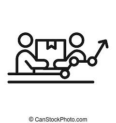 team effort vector illustration