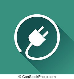 electric plug icon - Illustration of electric plug icon with...