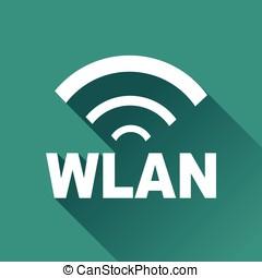 wlan design icon - Illustration of wlan design icon with...