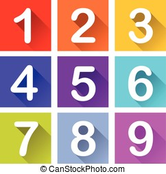 numbers coloful icons
