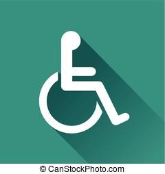 handicap design icon - Illustration of handicap design icon...
