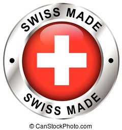 swiss made icon - Illustration of swiss made icon on white...
