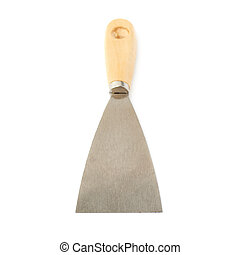Putty kniFe over isolated white background - Putty kniFe...