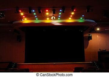 Stage and lights